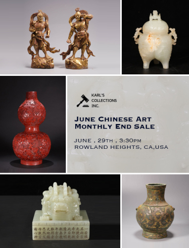 June Chinese Art Monthly End Sale